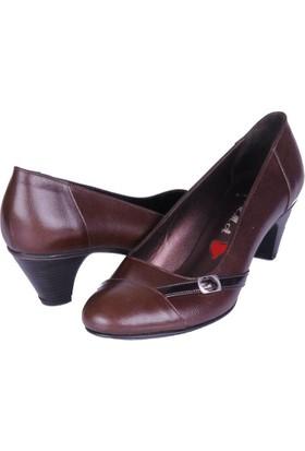 Dgn Kadın Deri Numara Ayakkabı Kahverengi
