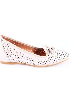 İloz Kadın 380744 Gizli Dolgu Taban Lazerli Ayakkabı Bej Simli