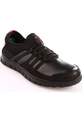 Forelli Erkek 45808 Merdane Boğazlı Stretch Comfort Ayakkabı Siyah