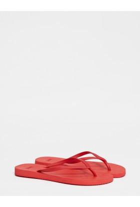 Mavi Kadın Kırmızı Flip Flop