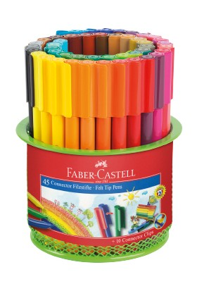 Faber-Castell Eğlenceli Keçeli Kalem 45'li