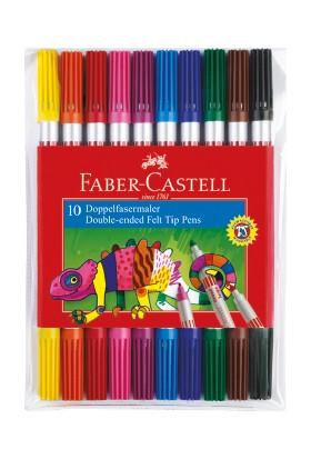 Faber-Castell Çift Uçlu Keçeli Kalem10 Renk
