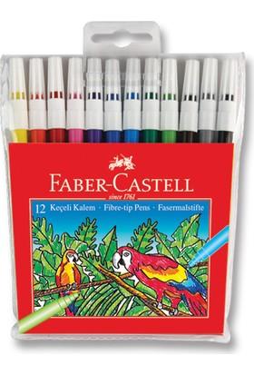 Faber-Castell Keçeli Kalem,12'li Poşet