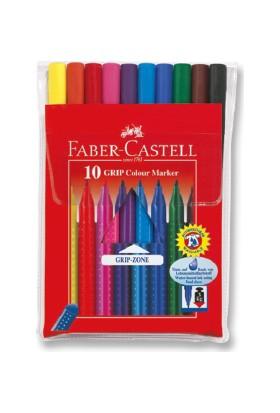 Faber-Castell Grip Keçeli Kalem,10'lu Poşet