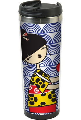 Allmug İçi Çelik Termos Mug - Japanese Girl
