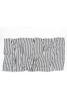 İrya Liny Kara Tezgah Peştemal Beyaz 90 x 170 Cm
