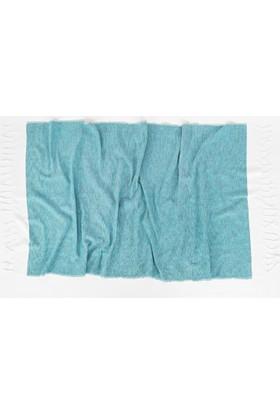İrya Sare Kara Tezgah Peştemal Mavi 90 x 170 Cm