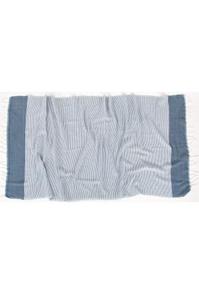 İrya Mia Kara Tezgah Peştemal Mavi 90 x 170 Cm