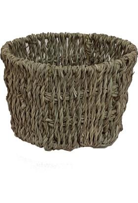 Vtb Bambu Naturel Bambu Sepet Çok Amaçlı Mutfakbany Dekor Ürünü (Vthcs1012)