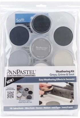 Panpastel Weathering Kit Grey, Grime & Soot 7 Renk + Aksesuar