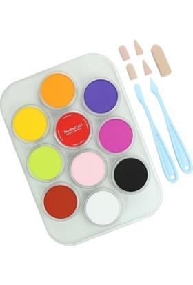 Panpastel Çiçek Boyama Kit 1 - 10 Renk + Aksesuarlar