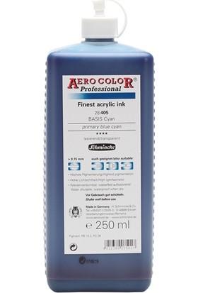 Schmincke Aero Color Primary Blue Cyan 405 Mürekkep 250 ML
