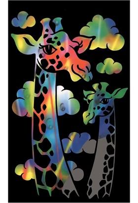 Reeves Gökkuşağı Gravür Kazıma Seti - Zürafa