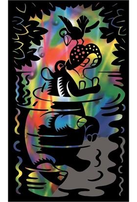 Reeves Gökkuşağı Gravür Kazıma Seti - Hipopotam