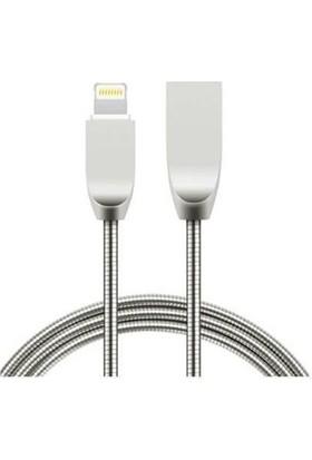 Twinix Metal Yaylı Lightning USB Şarj Kablosu