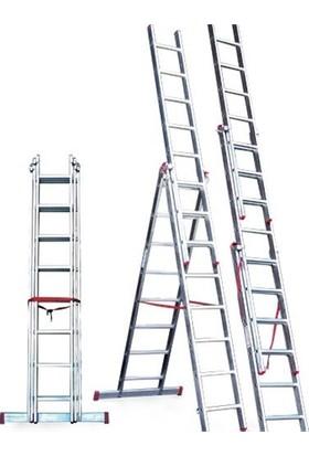 Cömert Alüminyum Merdiven A Tipi+Sürgülü 3 Prç 3X3=9