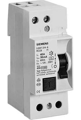 Siemens 5SV4312-0 25A 30Ma 230V (Faz + Nötr) Kaçak Akım Koruma Rölesi