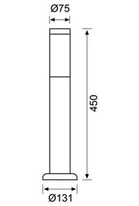Jüpiter Kısa Bahçe Direk Paslanmaz Jg823 S202-45Cm