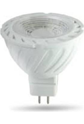 Aviyel 6W Led Çanak Ampul Beyaz Mr16 (12V)