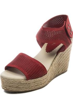 Jo'Scarlet Elisa Kadın Kırmızı Dolgu Topuk Sandalet