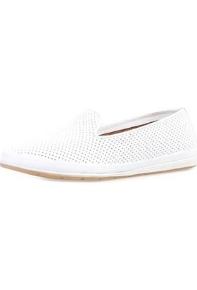 Jo'Scarlet Flora Kadın Beyaz Ayakkabı