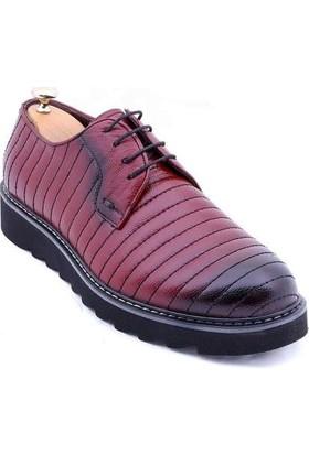 Wessi Erkek Deri Eva Taban Bordo Ayakkabı
