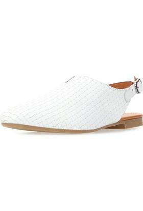 Jo'Scarlet Tessa Kadın Beyaz Sandalet