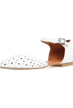 Jo'Scarlet Wilda Kadın Beyaz Sandalet