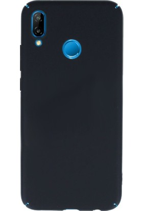 Case 4U Huawei P20 Lite Kılıf Rubber Arka Kapak - Siyah