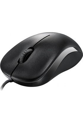 Rapoo 13742 N1130 Kablolu Optik Siyah Mouse