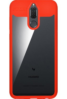 Zore Huawei Mate 10 Lite Hibrit Silikon Kenarlı Sert Koruma Kılıf