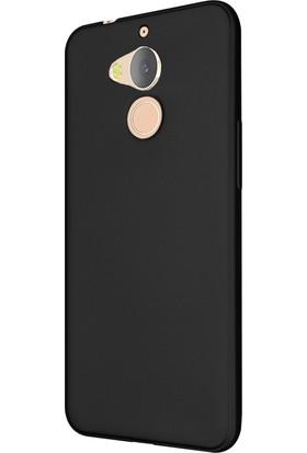 Zore General Mobile GM 8 Kılıf Premier Mat Silikon Kılıf + Temperli Cam Ekran Koruyucu