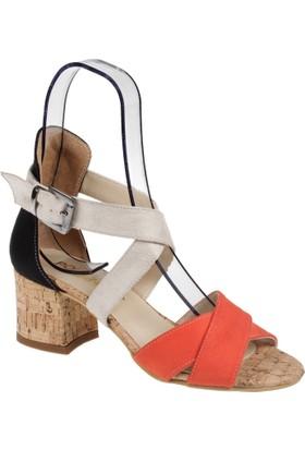 Shalin Bayan Ayakkabı-Ag 118 Turuncu