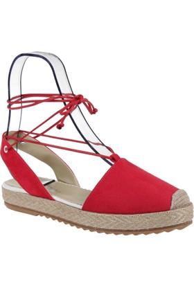 Shalin Bayan Espadril Ayakkabı-Szr 201 Kırmızı
