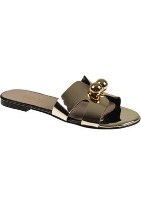 Shalin Bayan Sandalet Terlik Szr 699 Dore