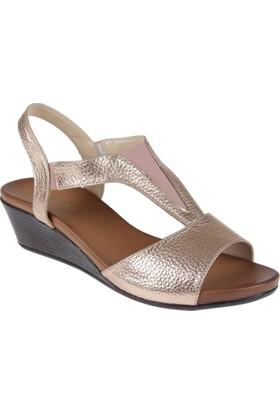 Punto Bayan Ayakkabı-Bayan Sandalet-Pun 660325 Bakır