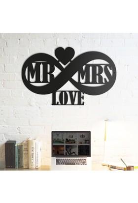 Domirror Deco Metal Tablo Mr&Mrs