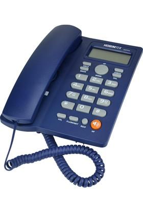 Hobimtek Dextel Ekranlı Kablolu Telefon Masa Telefonu Mavi 46559