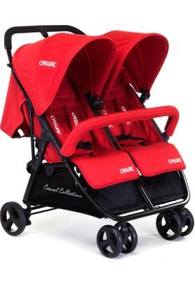 Casual Twin İkiz Bebek Arabası - Red
