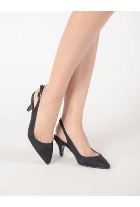 Mecrea Kadın Alessandra Siyah Süet Alçak Topuklu Ayakkabı