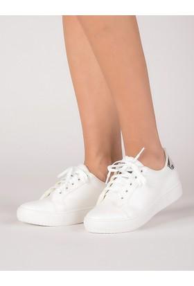 Mecrea Kadın Frencesco Beyaz Gümüş Sneaker