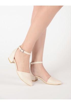 Mecrea Kadın Hailey Bej Alçak Topuklu Ayakkabı