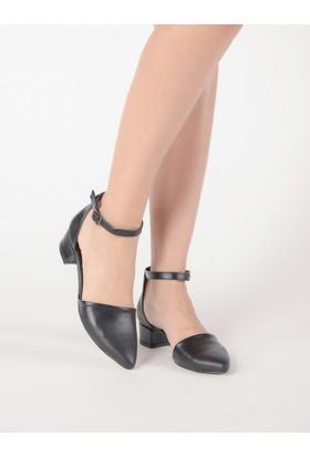Mecrea Kadın Hailey Siyah Alçak Topuklu Ayakkabı