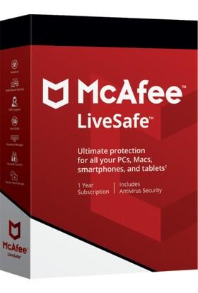 Mcafee Livesafe 1 Yıl Limitsiz Cihaz PC Mac Mobil