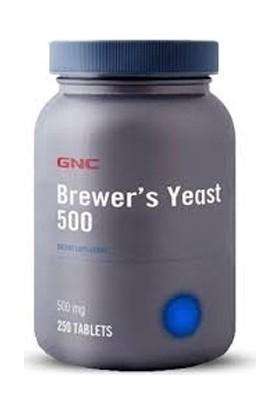 GNC Brewer's Yeast 500 mg 250 Tablet (Bira Mayası) + Komili 15'li Islak Mendil