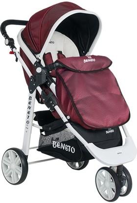 Beneto Bt 530 White-Line Jogger Trio Bebek Arabası - Bordo (Chipolino Çanta hediyeli)