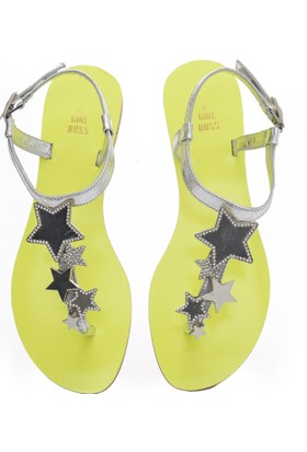 Girl Boss New York Hawai Neon Sandalet