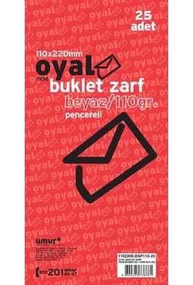 Oyal Zarf Buklet 11X22 110Gr Beyaz Penc. Slk 25 Li