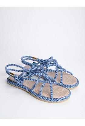 Mecrea Bryant Mavi Örgü Bağlı Sandalet