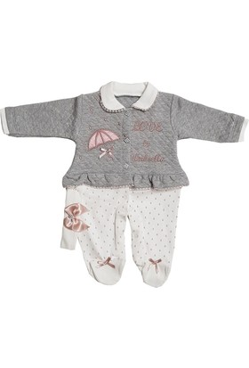 Mini Love Kapitoneli Kız Bebek Tulum Modeli